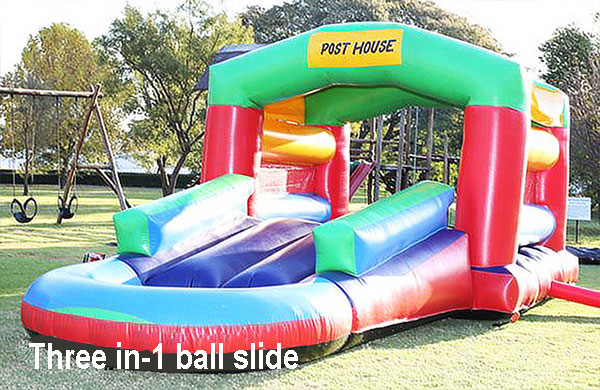 Three-in-1 ball slide